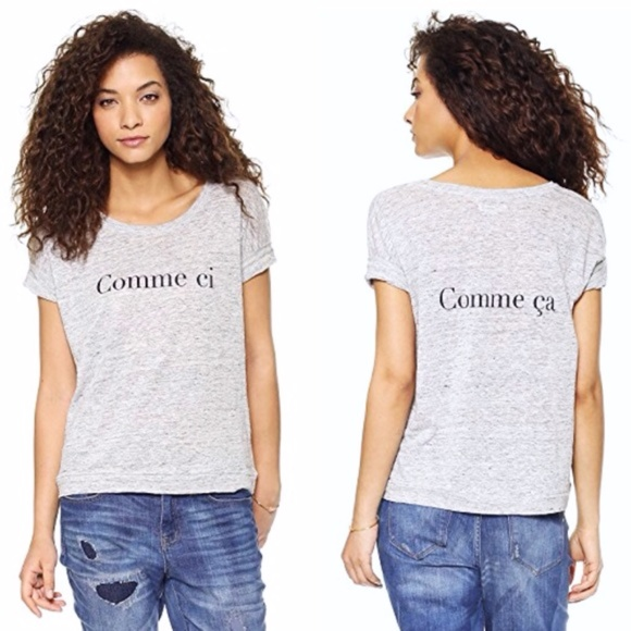 Madewell Gray Comme Ci Comme Ca Linen T-shirt